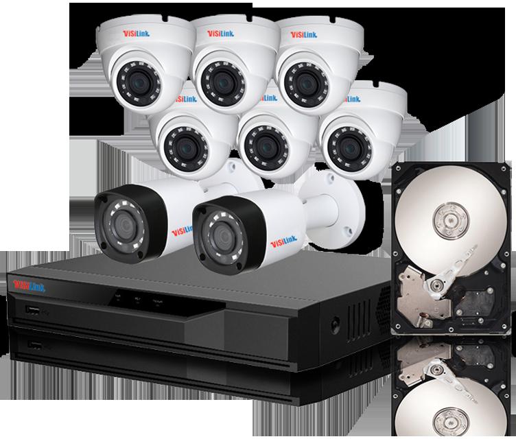 Paket CCTV 8 Kamera 2MP