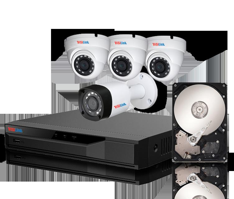 Paket CCTV 4 Kamera 2MP
